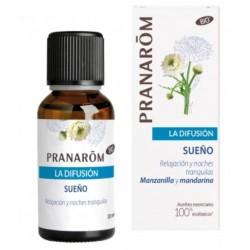 Pranarom. Aceite esencial sueño. Manzanilla y mandarina. Sueño y relajación.